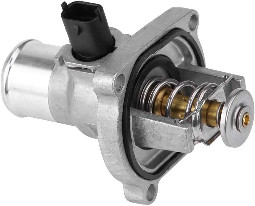 Terisass Thermostat 96984104 Car Engine Coolant Thermostat with Housing Assembly for Chevrolet Aveo 2009-2014 Sonic 2012-2017 Cruze 2011-2015 Trax 2013-2016 Pontiac G3 2009-2010