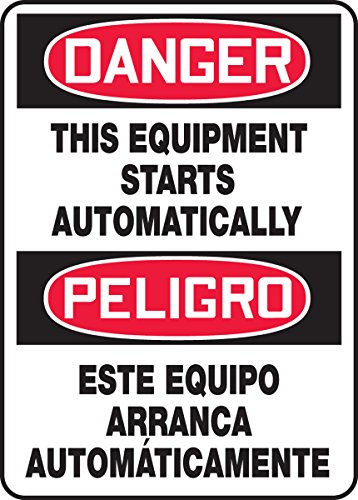T STARTS AUTOMATICALLY (BILINGUAL) (2 Pack) (Danger Automatic Start Equipment)