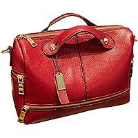 Women Shoulder Bag Messenger Purse Top Handle Hobo Shoulder BagLeather Handbag Casual Bag Top-handle Lady Messenger Tote Handbag Tote Bag Crossbody Bag Duseedik Clearance (Red)