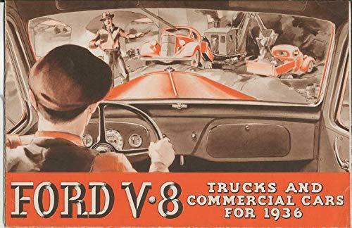 - 1936 Ford V8 Commercial Cars Trucks ORIGINAL Vintage Advertising Brochure