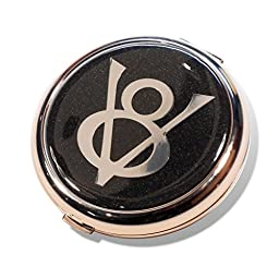 Ford V8 Black Star Compact Mirror Travel Make Up Accessory