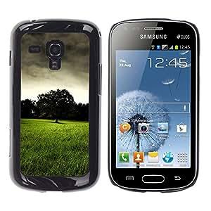 Paccase / SLIM PC / Aliminium Casa Carcasa Funda Case Cover - Dark prairie - Samsung Galaxy S Duos S7562