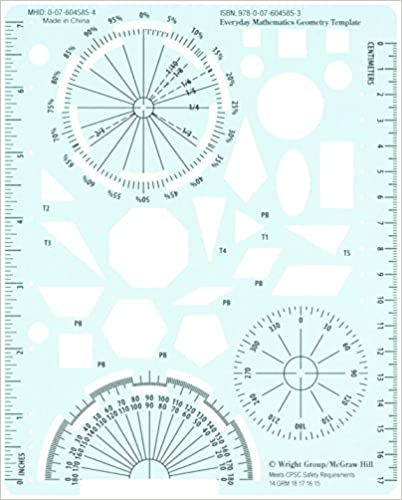 Amazon.com: Everyday Mathematics 4, Grades 4-6, Geometry Template ...