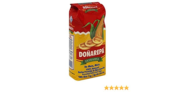 Amazon.com : Doña Arepa Extrafina Yellow Corn Flour 35oz 8 Pack : Grocery & Gourmet Food