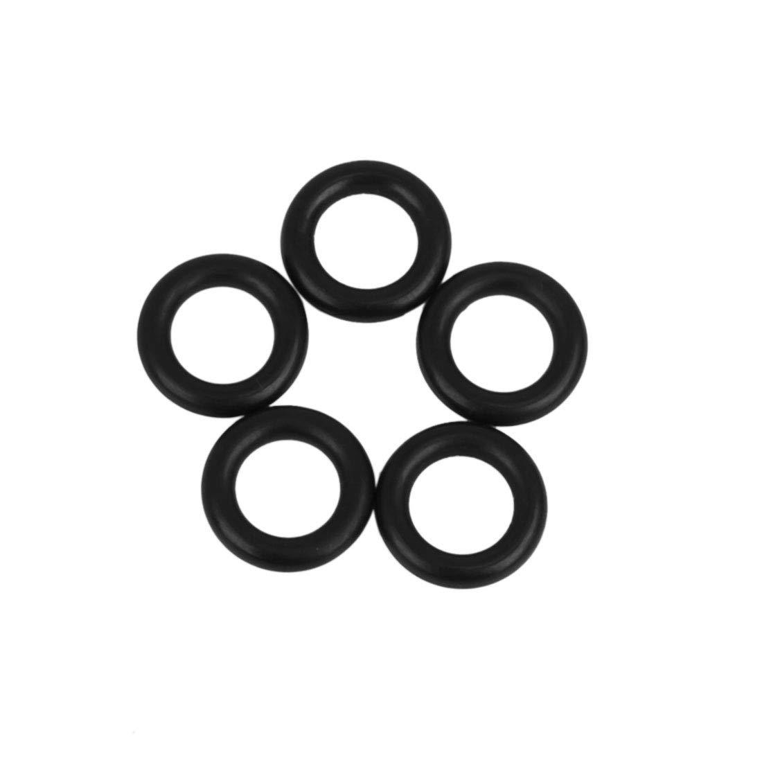 5pcs Black NBR70 Rubber O-Ring Washer Sealing Gasket for Car 10 x 2.5mm