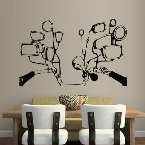 Amazon.com: Wall Decal Sticker Vinyl Mirror Steering Wheel ...