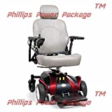 Golden Technologies - Alante Sport - Compact Power Chair - Red - PHILLIPS POWER PACKAGE TM - TO $500 VALUE