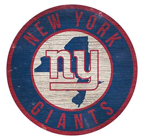 - Fan Creations New York Giants Wood Sign 12 Inch Round State Design