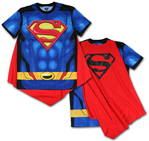 Superman- Sublimated Cape Tee T-Shirt Size XXL (Superman T Shirt With Cape)