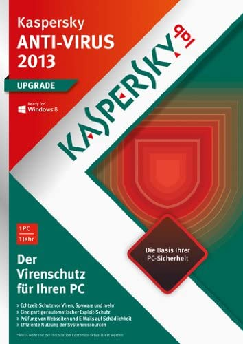 Kaspersky Lab Anti Virus 2013 - Seguridad y antivirus (Actualizasr, Full, 1 usuario(s), 480 MB, 512 MB, 800 MHz): Amazon.es: Software