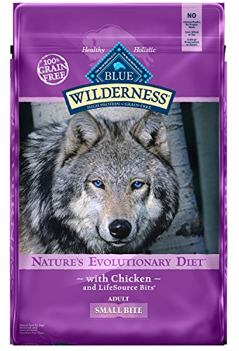 Blue Buffalo Wilderness High Protein Grain Free, Natural Adult Small-Bite Dry Dog Food, Chicken (Blue Buffalo Adult Formula)