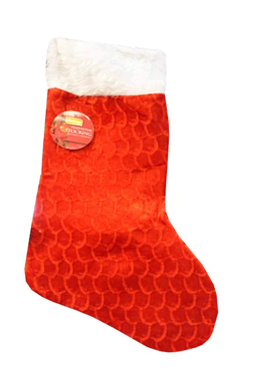 large Plush christmas stocking - 44cm by 27cm wide at the top ...