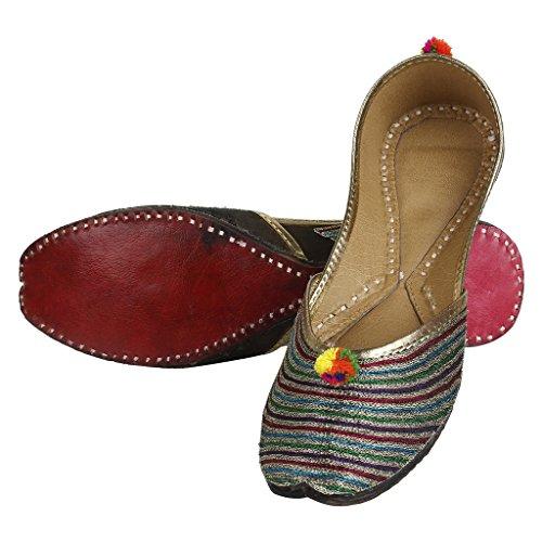 Scarpe Piatte Etnico Indiano Di Scarpe Saashiwear Mojari Jutti