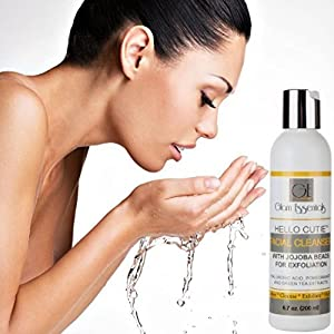 Holiday Flash Sale! Best Facial Cleanser with JoJoba Beads & Green Tea Extracts for Acne, Menopausal Hormone Related Skin Disorder-