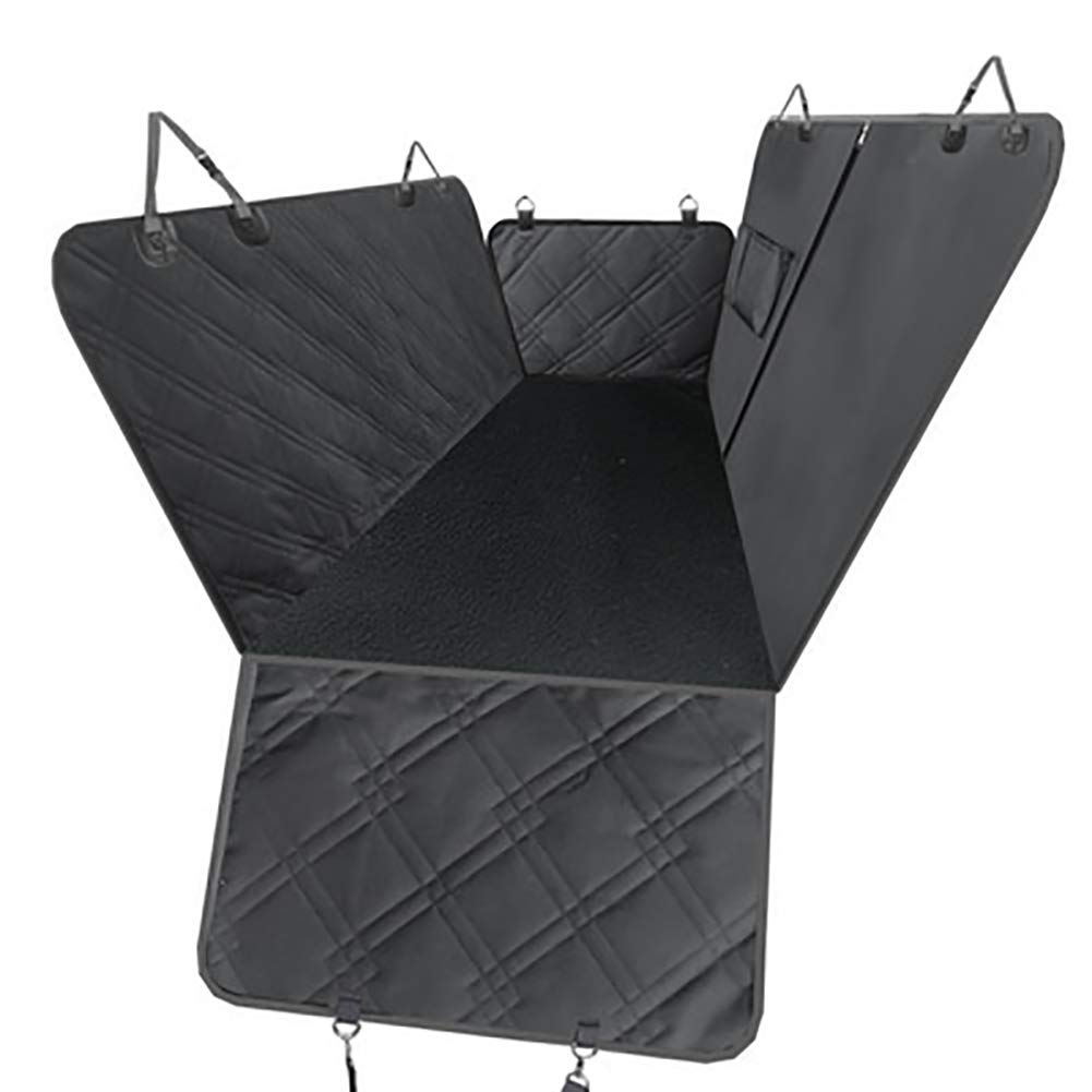 Black TSTLCLLMZ Dog Car Seat Cover with Nonslip Backing and Seat Anchors,Waterproof Scratch Proof Nonslip Simple Inssizetion,Black