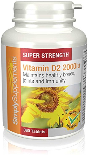 Vitamin D2 2000iu | 360 Tablets | May promote a healthy immune system |...