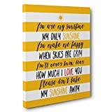You Are My Sunshine Quote CANVAS Wall Art Home Décor