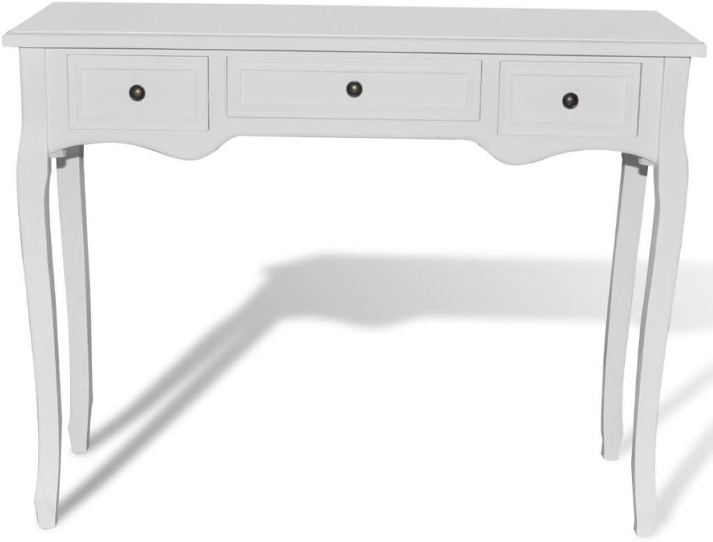 Anself Tocador Consola Blanco con 3 Cajones: Amazon.es: Hogar
