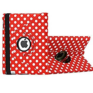 HP 360 Degree Rotating Round Dots Pattern Auto Sleep & Wake-Up PU Leather Case with Stand for iPad 2/3/4 (Color Random)