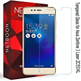 Asus Zenfone 3 Laser Tempered Glass Screen Protector Guard - NETBOON® Branded Tempered Glass HD Clarity, 9H Hardness, Ultra thin, Anti-Scratch Original Gorilla Glass Guard for Asus Zenfone 3 Laser (ZC551KL)