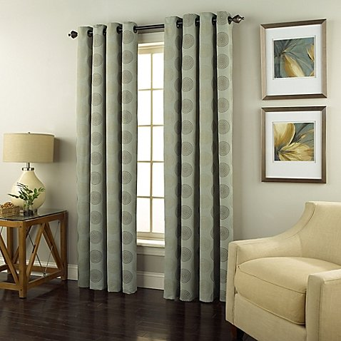 Spiral 84-Inch Grommet Top Window Curtain Panel in Spa