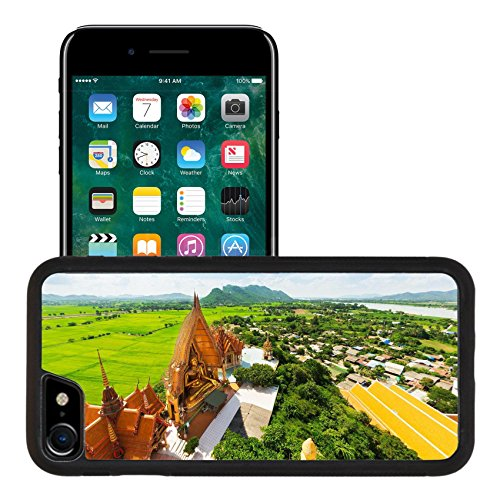 Liili Apple iPhone 7 iPhone 8 Aluminum Backplate Bumper Snap iphone7/8 Case iPhone6 IMAGE ID 32314117 A view from the top of the pagoda golden buddha statue with rice fields and mountain Wat Tham Su