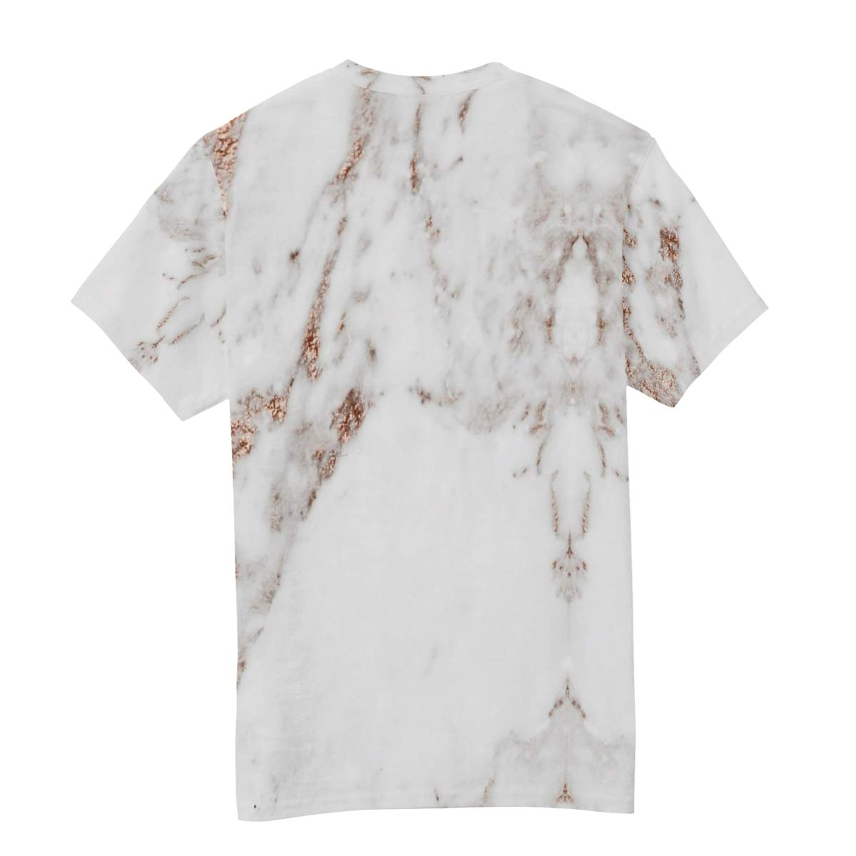 Horatiood Huberyyd Rose Gold White Marble Mens T Shirts Graphic Funny Body Print Short T-Shirt Unisex Pullover Blouse