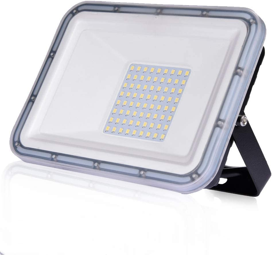 50W Proyector LED exterior IP67 Impermeable Foco exterior 4500 lumen Blanco frío 6500K Iluminación Led Floodlight para jardín garaje estacionamiento almacén Iluminación del paisaje: Amazon.es: Iluminación