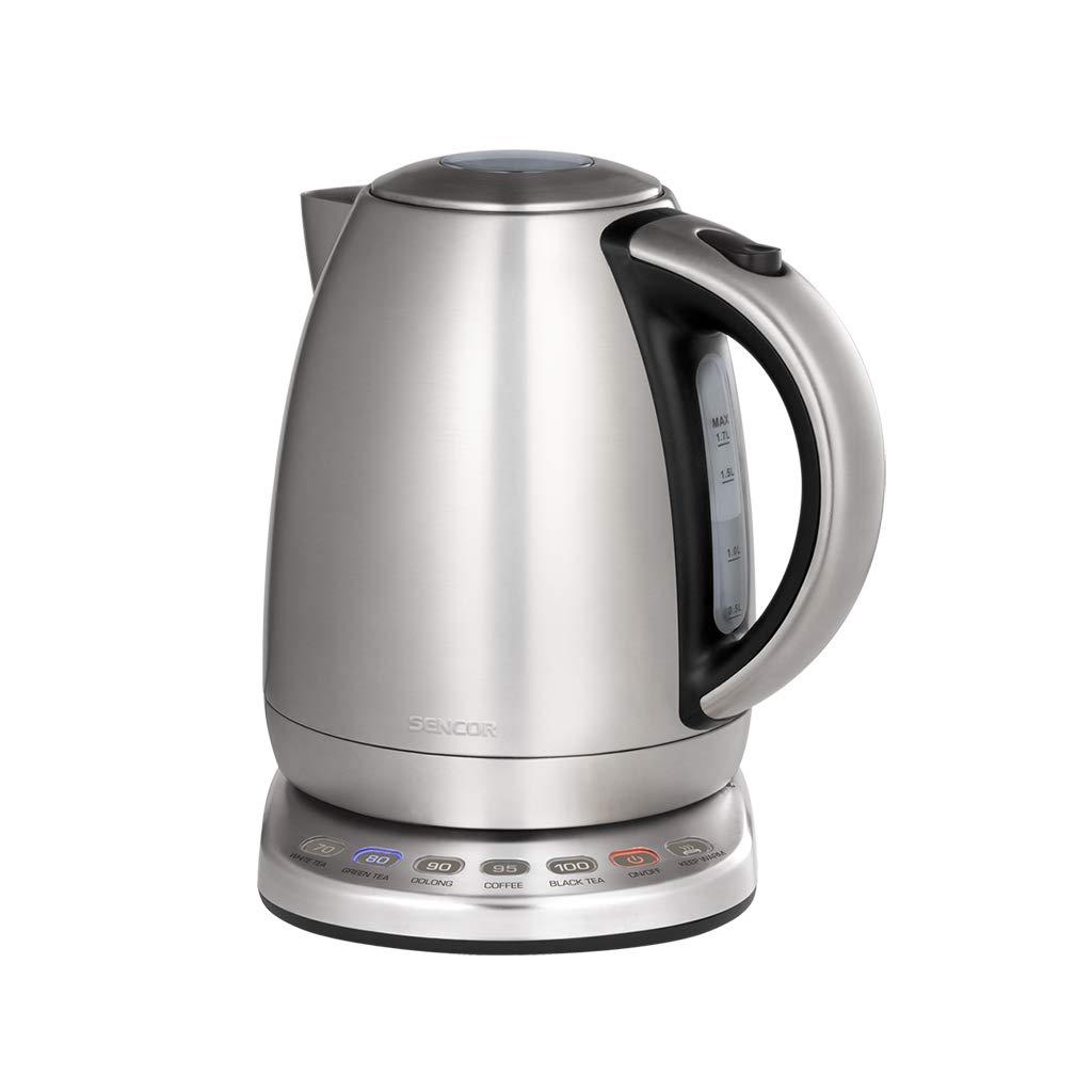 HTTDIAN 1.7L電気ケトル▏家庭用304ステンレス鋼自動電源オフ湯沸かし器▏シームレスライナーケトル   B07MBRGSTD