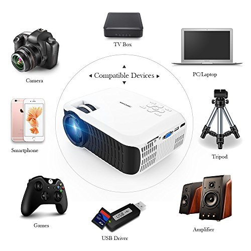 DBPOWER T22 Latest Upgraded LED Projector