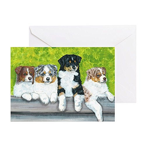 CafePress Aussie Babies Greeting Card, Note Card, Birthday Card, Blank Inside Matte