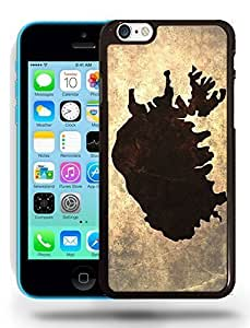 Iceland National Vintage Country Landscape Atlas Map Phone Case Cover Designs for iPhone 5C