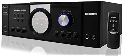 Pyle 1000 Watt Premium Home Audio Power Amplifier - Home Theater 4 Channel  Stereo Receiver w/ Speaker Selector & Remote - for Amplified TV, Subwoofer