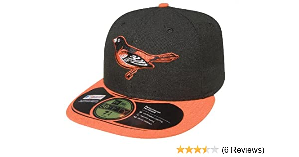on sale cf6c7 ae155 reduced amazon mlb baltimore orioles authentic on field game 59fifty cap  black orange bill 8 sports