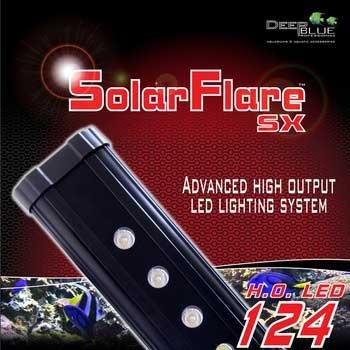 Deep bluee Professional ADB42724 24-Inch Solarflare Single LED Lighting Strips for Aquarium, 12 by 3-Inch