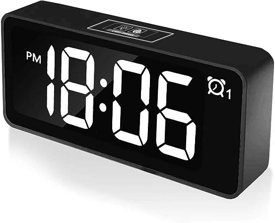 CHEREEKI Reloj Despertador Digital, Relojes de Pantalla LED de 4.6 ...