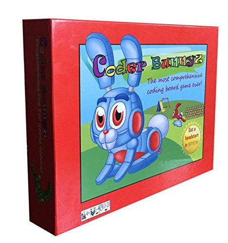 Coder Bunnyz - The Most Comprehensive STEM Coding Board Game Ever! Learn All The Concepts You Ever Need in Computer Programming in a Fun Adventure. Featured at NBC, Sony, Google, Maker Faires!