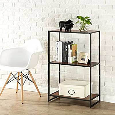 """Zinus Modern Studio Collection 3-Shelf Multipurpose Bookcase - Functional and stylish Easy to Assemble Dimensions:  25"""" long x 13"""" wide with 17"""" between shelves, 38"""" total height - living-room-furniture, living-room, bookcases-bookshelves - 51cANFvp0vL. SS400  -"""