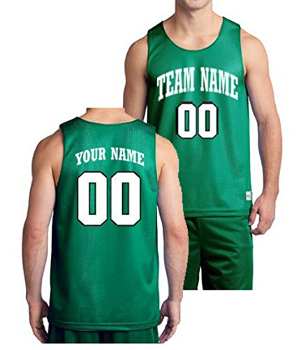1ce483fe9892 Amazon.com   Custom Basketball Jersey-- Front   Back Team Name   Number    Sports   Outdoors