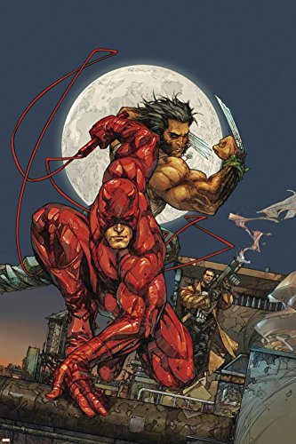 Astonishing Tales No.4 Cover: Daredevil, Wolverine and Punisher Poster by Kenneth Rocafort