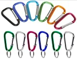144 VAS #6 60mm Bulk Pack Aluminum Carabiners Key Chains - Assorted Colors