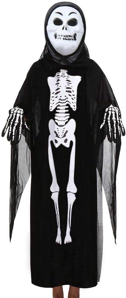 Watopi Halloween Esqueleto Personalizado para niños, Negro ...