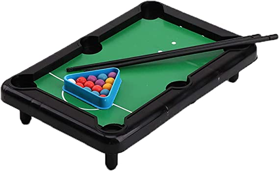 Juego de mesa de billar miwaimao, mesa de billar, mini mesa de billar para niños, juego de tacos para deportes de interior, 3 unidades: Amazon.es: Hogar