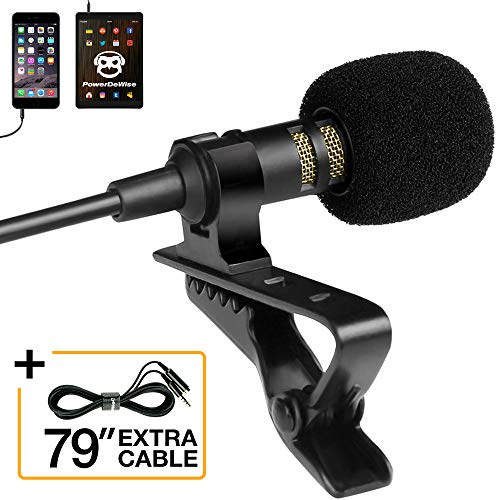 Professional Grade Lavalier Lapel Microphone  Omnidirectio
