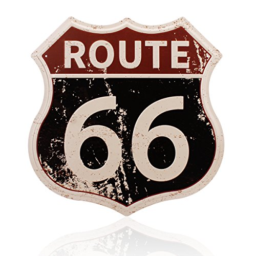 Route 66 Metal Signs Vintage Road U.S. 66 Highway Tin Sign for Home Decoration 11 1/2