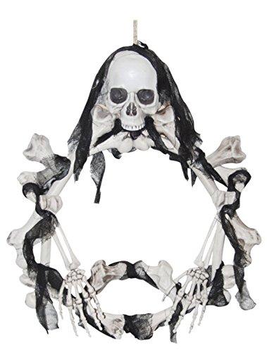[Light Up Skeleton Wreath] (Hocus Pocus Halloween Costumes)