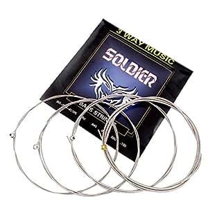 Mugig Juego de Cuerdas para Bajo 4 Cuerdas de Acero (4 × 1 paquete)