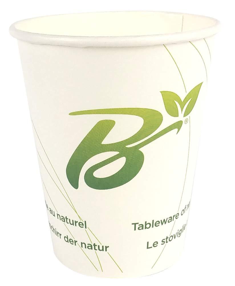 SDG Lot de 50 gobelets de 9 oz en Papier compostable pour Boissons Chaudes et Froides et caf/é ML 270