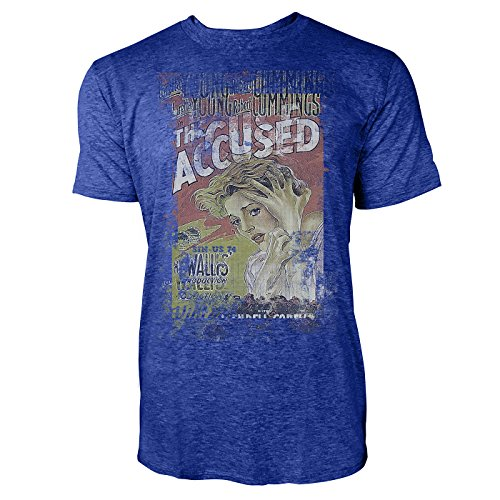 SINUS ART® The Accused Herren T-Shirts stilvolles blaues Cooles Fun Shirt mit tollen Aufdruck
