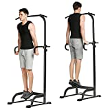 Fashine Adjustable Power Tower Station, Multi-Function Chin Up, Pull Up, Push-Up, Dip Stands Workout Station Strength Training Fitness Equipment for Home Gym Office (US STOCK)